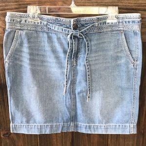 EUC Gap jeans limited edition denim mini skirt